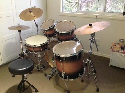 Sonor Select Force Maple 5 piece Drum Kit in Brown Galaxy Sparkle East Toowoomba Toowoomba City Preview