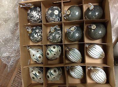 Frontgate Luxury Joyeux Trim Kit Christmas Holiday Tree Ornaments 59 MOUTH BLOWN