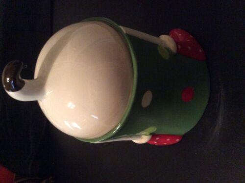 Santa puppy small cookie jar
