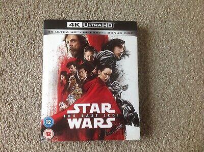 STAR WARS THE LAST JEDI 4K ULTRA HD + BLU-RAY + BONUS DISC + SLIP