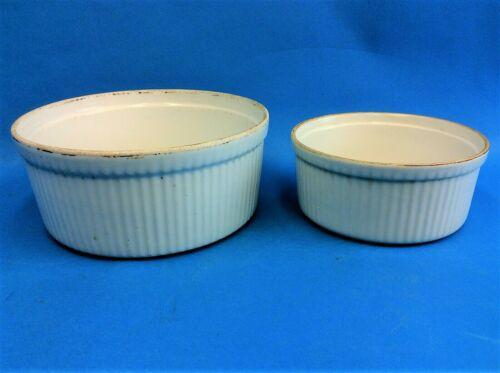 Vintage Apilco France A Pillivuyt & Fils Chauyigmy Porcelain Casserole Dishes