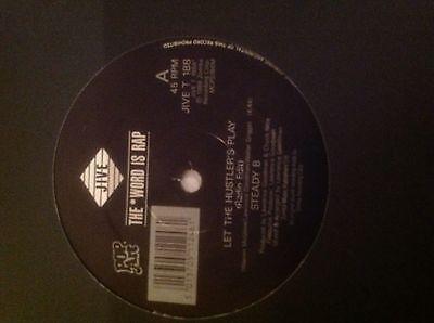 "Steady B – Let The Hustler's Play 12"" Hip Hop Vinyl 1988 Jive Old School"