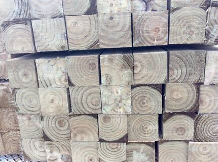 TREATED PINE POSTS 100 X 100 X 2.4M