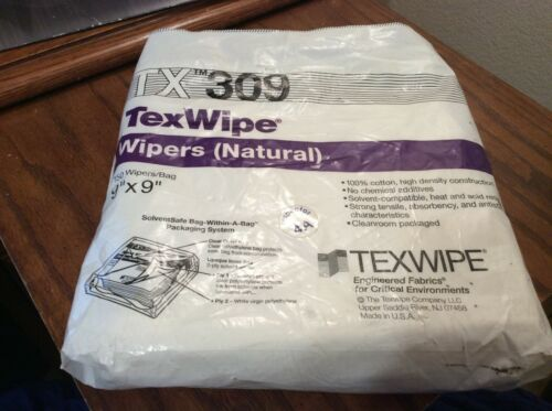 """TexWipe Wipers TX 309 9"""" x 9"""" 100% Cotton Manufacturing Semiconductor"""