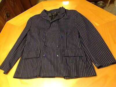 Gangster Mobster Mafia Al Capone Pinstripe Actual Suit Halloween Costume Large - Pinstripe Suit Costume