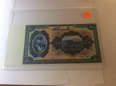 Click now to see the BUY IT NOW Price! IRAN,PERSIA REZA SHAH 500 RIAL 1932/AH 1311,PICK 23S,SPECIMEN,UNC,