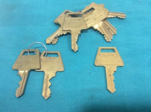 American Lock Company cut keys, set of 10, locksmith