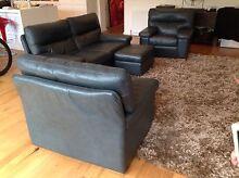 Moran Lounge 4 Piece Leather Como Design With Ottoman Albert Park Port Phillip Preview