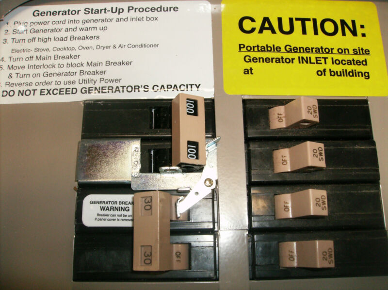 FAC-CH100 Cutler Hammer or Eaton Generator interlock kit 100 Amp CH Panel Listed