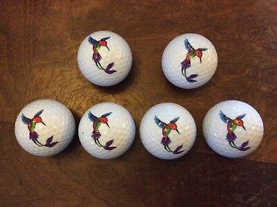 (Nicks Underground Novelty Golf Balls - Hummingbird 6 Pack Display Tube NEW!)