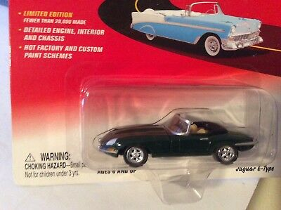 Used, Johnny Lightning Jaguar E type dark green  rag tops 2003 CONVERTIBLE 1/64  for sale  Shipping to Canada
