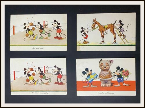 ⭐ Mickey Mouse Disney German Postcards from 1930