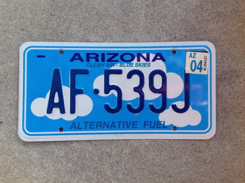 ARIZONA - ALTERNATIVE FUEL - LICENSE PLATE