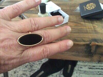 Ginette NY ..ellipse onyx ring, size 8.5