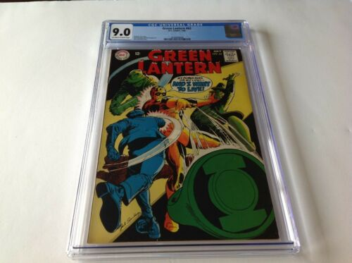 GREEN LANTERN 62 CGC 9.0 COOL COVER DC COMICS