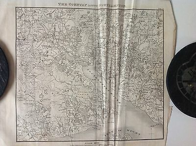 Southampton 'the Country Round Southampton' c1829 Antique Map Very Rare