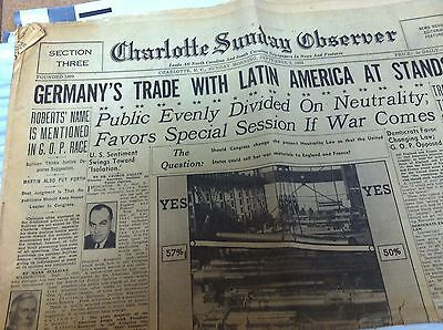 Charlotte Sunday Observer 9 3 1939