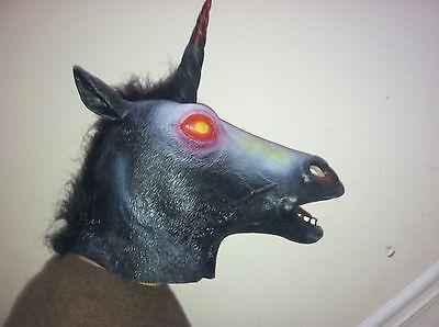 Evil Unicorn (Evil Unicorn HorseMask Creepy HalloweenCostume Theater Prop Novelty Latex)