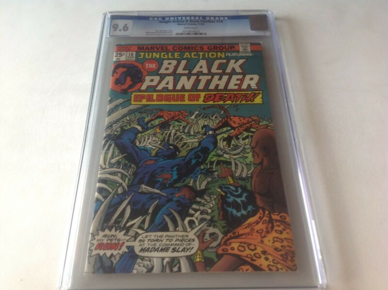 JUNGLE ACTION 18 CGC 9.6 BLACK PANTHER WHITE PAGES KIRBY JANSON A MARVEL COMICS