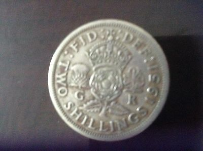 GREAT BRITAIN FLORIN (Two Shillings) 1951 George VI