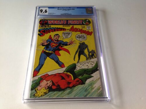 WORLDS FINEST COMICS 203 CGC 9.6 WHITE PS NEAL ADAMS AQUAMAN SUPERMAN DC COMICS