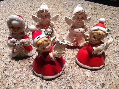 Vintage Napco Christmas Musician Angels & Commodore Angels