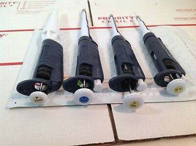 Set Of 4 Gilson Pipetman Pipettes P20 P200 P1000 P5000 364