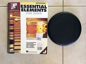 Percussion book 'Essential Elements' PLUS practice plate Mapleton Maroochydore Area Preview