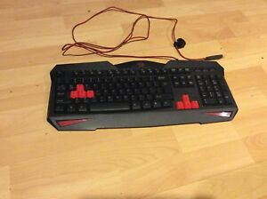 Black and Red Dragon Keyboard
