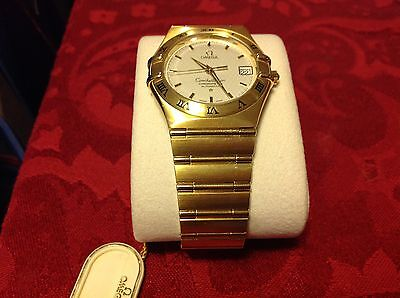 NEW,18 K SOLID GOLD FULL SIZE OMEGA CONSTELLATION AUTOMATIC WATCH,REF # 1102.30