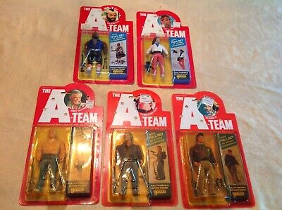 Galoob The A-team Action Figures Set of 5 Carded Good Guys Lot 1983 bad RARE htf