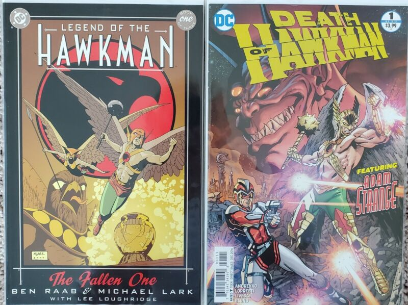Legend of Hawkman 2000 #1-3 Death of Hawkman 2016 #1-6 complete DC