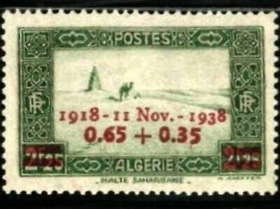 ALGERIA - 1938 Armistice Day anniversary semi-postal
