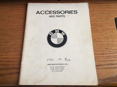 VTG BMW ACCESSORIES AND PARTS CATALOG R26/R27 & TWINS