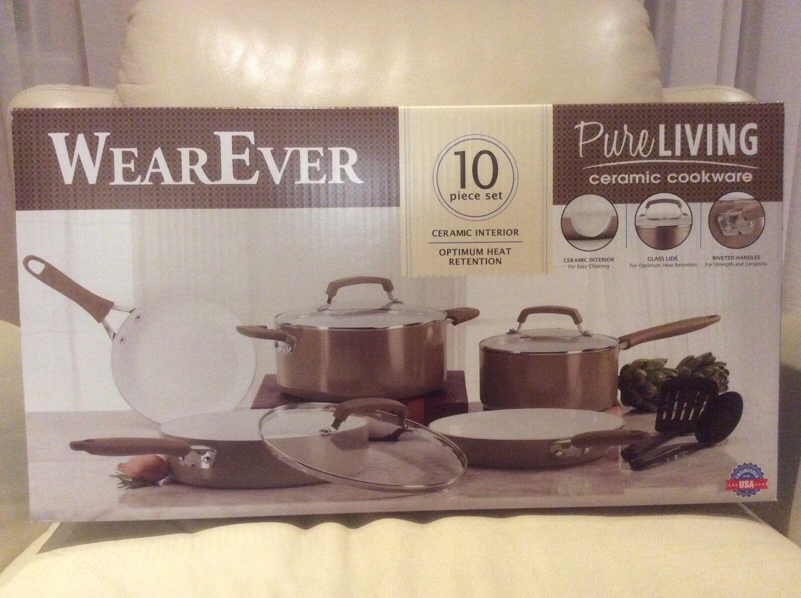 pure living ceramic cookware 10 piece set