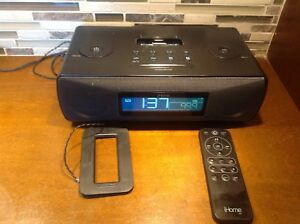 iHome IP87 dual alarm clock radio with iPhone/iPod dock