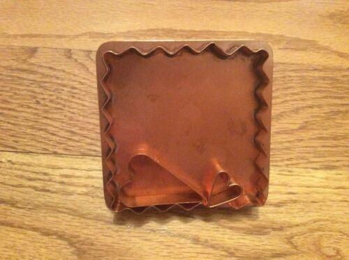 Michael Bonne Copper Signature Ruffle Square w Heart & Mini Cookie Cutters