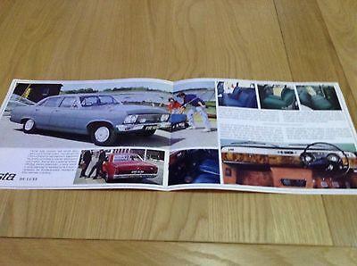 Vauxhall Cresta  September 1966 Sales Brochure Ref V1724
