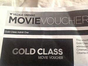 2 gold class movie ticket Greenacre Bankstown Area Preview