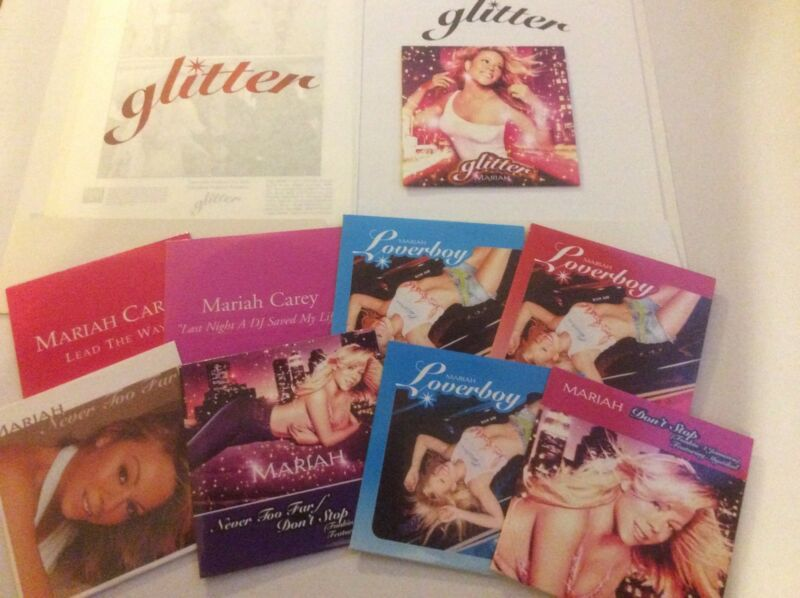 Mariah Carey - Glitter - Press kit W/Promo Album & Singles Pic Card Sleeves.RARE
