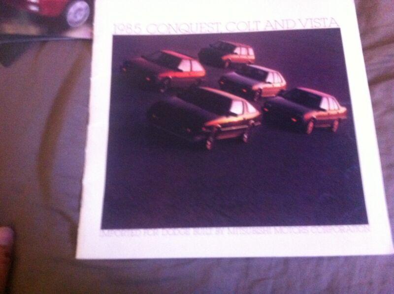1985 Plymouth Colt Vista Conquest  by Mitsubishi  Brochure Catalog Prospekt