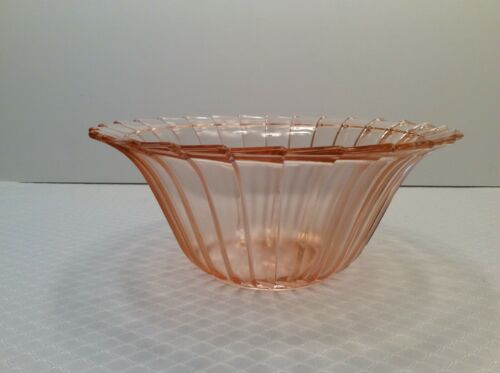 "Vintage ""Sierra"" Pink Depression Glass *8.5"" Berry Bowl - Jeannette Glass Co."