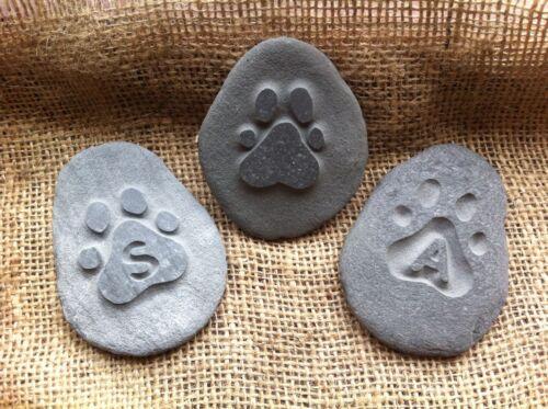 Hand carved pet memorial garden stone, personalised, unique, plaque, cat, dog