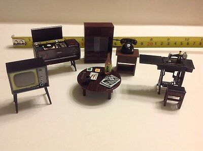 """Dollhouse Dwarf Japanese Living Room Furniture 1:24 Accessories Featuring 2"""""""