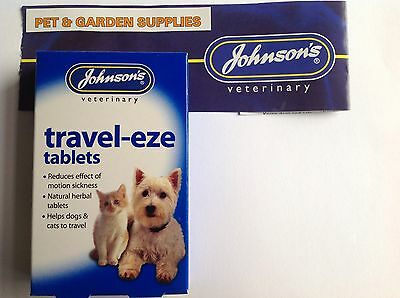 Johnsons Travel-Eze Tablets 24PK for dogs & cats ( FREEPOST)