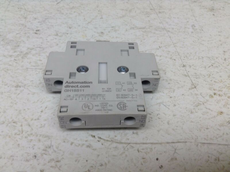 Automation Direct GH15S11 Auxiliary Contact GH15 S11