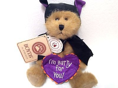 Drake Batbeary Halloween BOYDS BAT Bear I'm Batty for You New was $14.95](Halloween Drake)