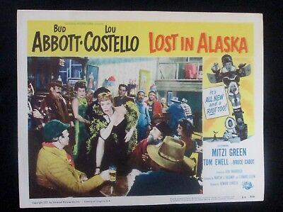 1952 Original Lost in Alaska Classic Rare Movie Lobby Card #3 Abbott & Costello