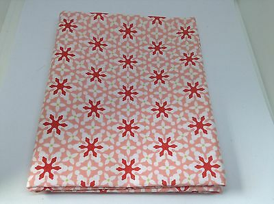 Christmas Snowflakes Fabric red and white.  1M X 112cm.