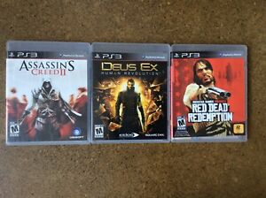 PS3 games: Assassin's Creed 2, Deus Ex, Red Dead Redemption